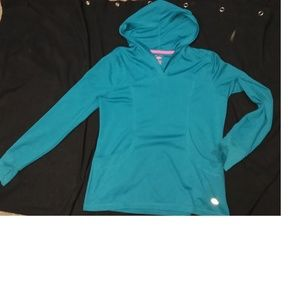 Reel Legends Pull Over Hoody Teal Top Large